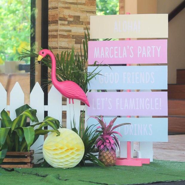 Tropical Flamingo Cake