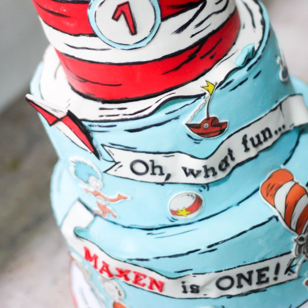 Surprising Maxens Cat In The Hat Birthday Party Sugarcraft Mnl Personalised Birthday Cards Veneteletsinfo