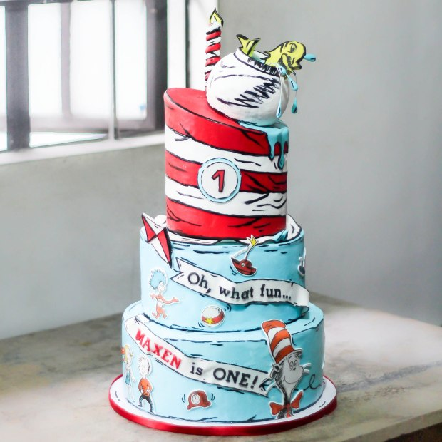 Admirable Maxens Cat In The Hat Birthday Party Sugarcraft Mnl Personalised Birthday Cards Veneteletsinfo
