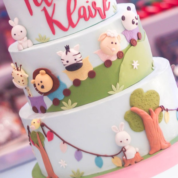 Animals Themed Cake