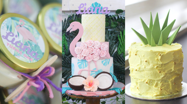 Tropical Flamingo Party - Tropical Flamingo Cake