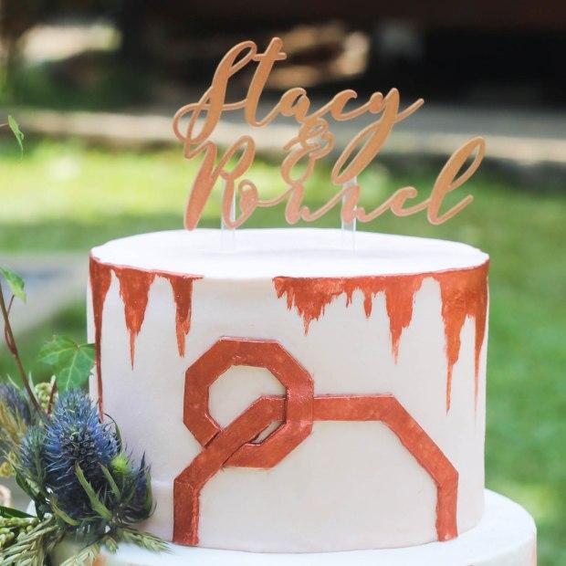 Rustic Metallic Wedding - Rustic Metallic Wedding Cake - Cake Supplier Manila
